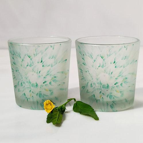 Agave succulent Candle Votives/ Shot Glasses set of 2