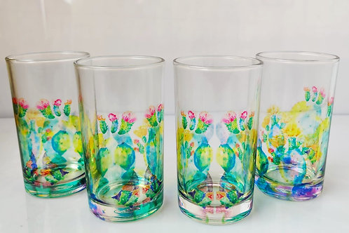 Desert cactus glasses (set of 4)