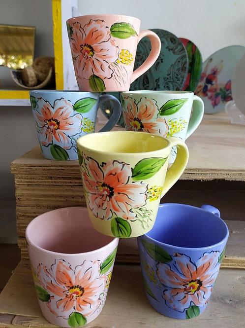 Ceramic mugs set of 6