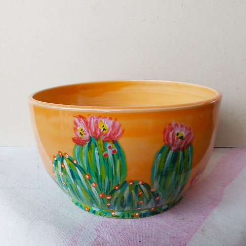 ORANGE CACTUS BOWL