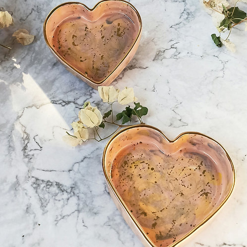 Blush Heart Trinket tray (1 pc)