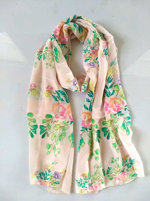 PEN FLORAL BLUSH SCARF