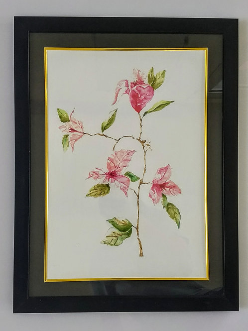 Hand Painted Art Frame (Bougan Pink)