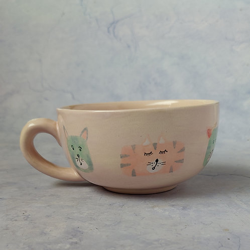 Dogs and cat breakfast bowl