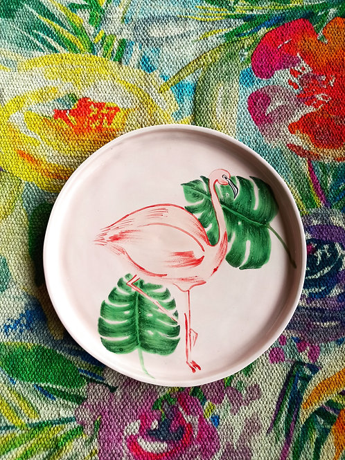 Flamingo plate ( pink)