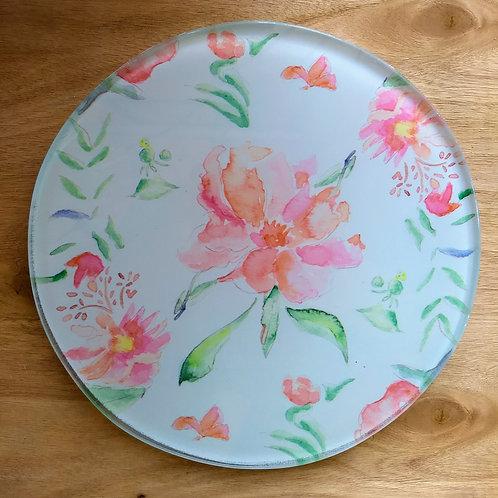 Glass Trivets Floral