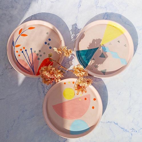 Quarter plate/ snack plate/ dessert plates set of 3