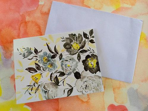 GIFT CARDS BLACK FLORAL