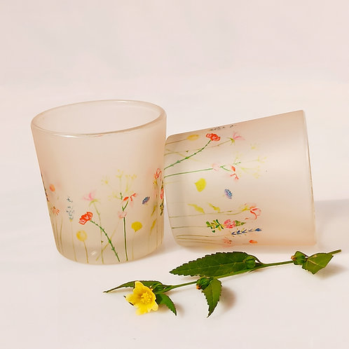 Wildflower Candle Votives/ Shot Glasses set of 2