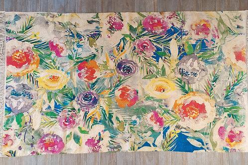 C floral rug