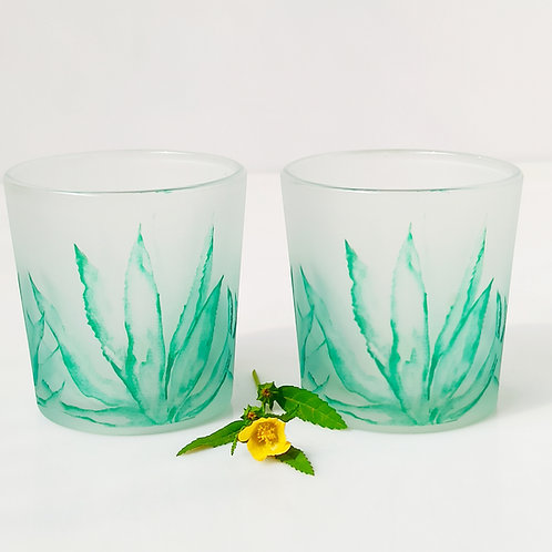 Agave Candle Votives/ Shot Glasses set of 2