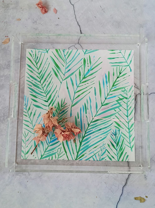 Palm leaves Acrylic Tray