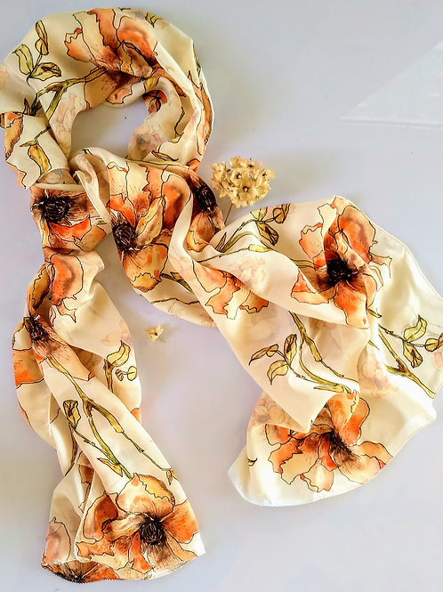 DRY FLORAL SCARF