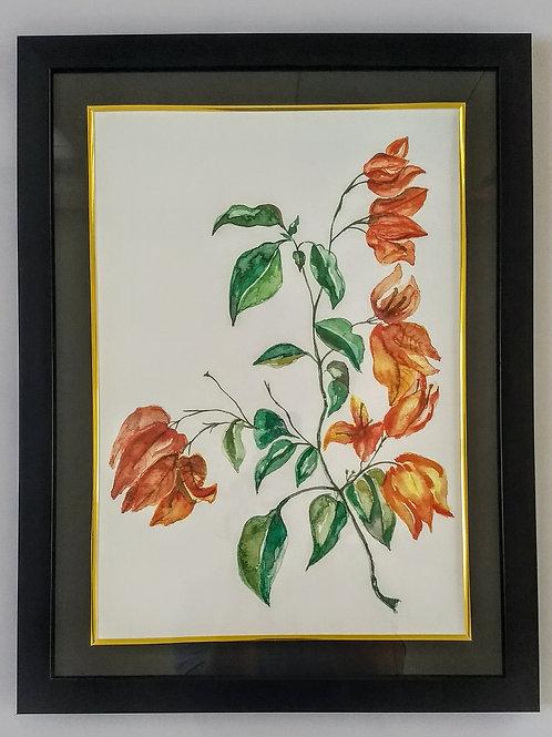 Hand Painted Art Frame (Bougan Orange)