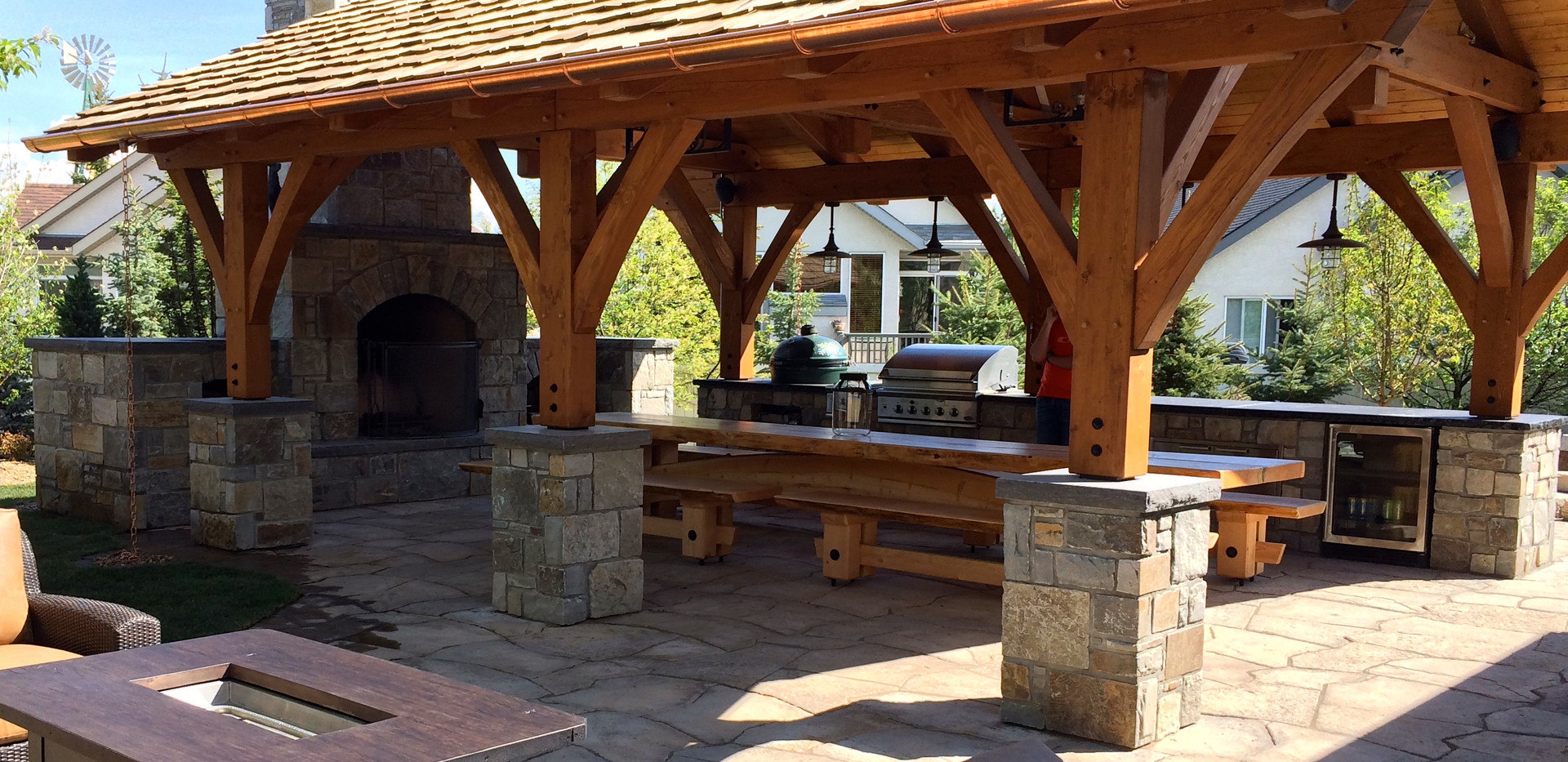 Natural Stone Outdoor Living Space