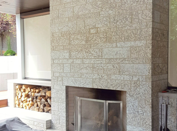 Tyndall Stone Outdoor Fireplace
