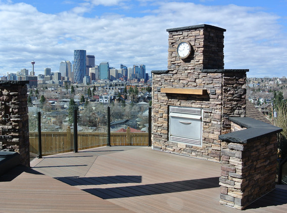 City view outdoor living space