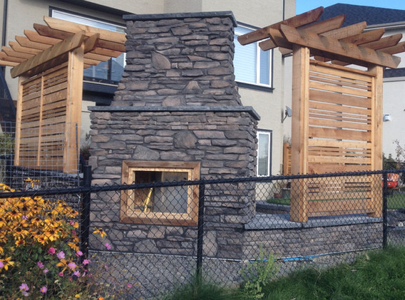 Outdoor Fireplace and Living Space
