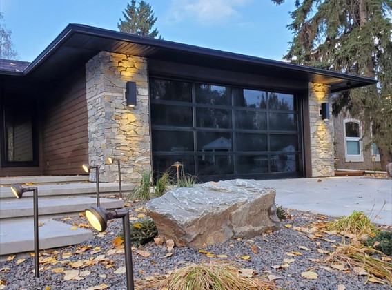 Dry Stacked Stone Home Exterior