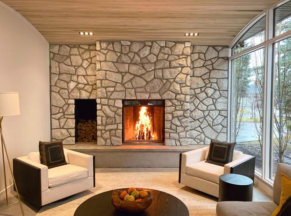 Rebuilt Indoor Fireplace