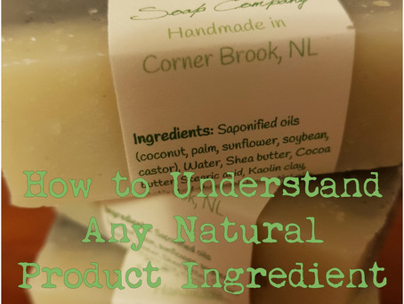 How to Understand Any Natural Product Ingredient List