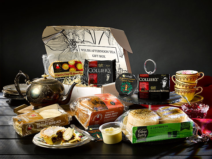 Christmas Welsh Afternoon Tea Gift Box