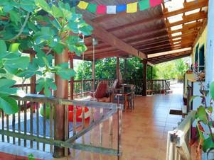 Porch, Yoga Shala and Workshop Hall