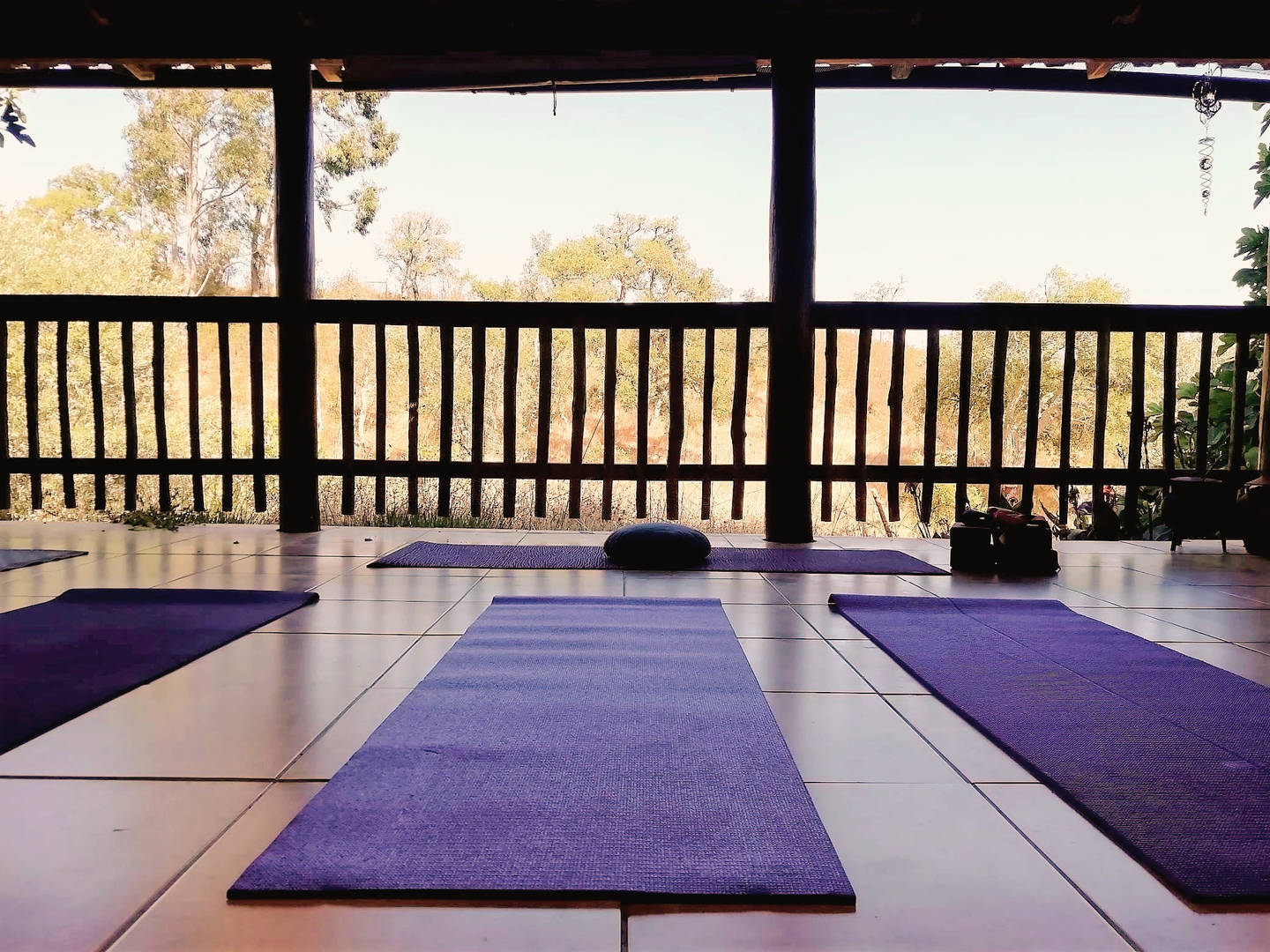 Porch and Yoga shala
