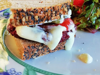 Healthy Sandwich with Vegetable 'cheese'