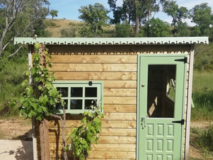Dry Compost Toilet + Hot Water Shower Cabin - Camping Area