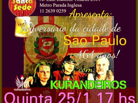Aniversário de SP com Os Kurandeiros no Santa Sede Rock Bar