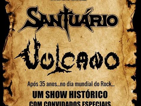 Sesc Santos recebe shows das bandas Santuário e Vulcano