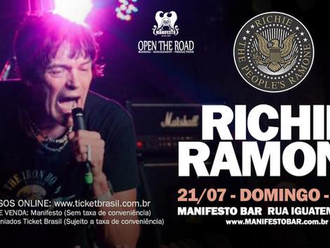 Ramones: Richie Ramone toca dia 21 de julho no Manifesto