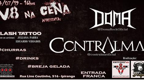 V8 na Cena! com as bandas Doma e Contralma