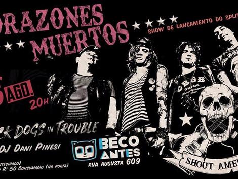 Show da banda Corazones Muertos no Beco Club