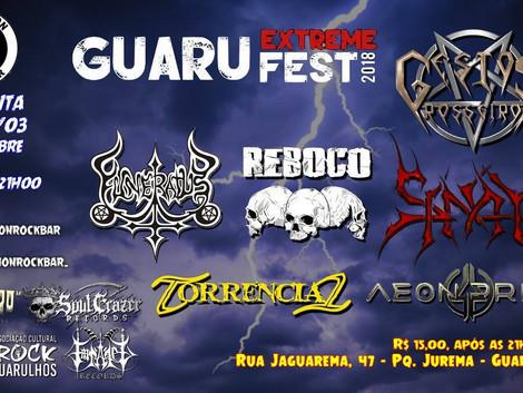 Guaru Extreme Fest acontece neste sábado, no Don Ramon Rock Bar