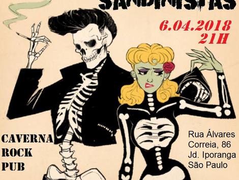 Caverna Rock Pub recebe show da banda Sandinistas