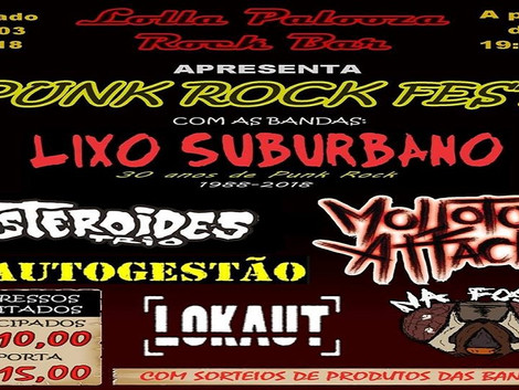 Punk Rock Fest no Lolla Palooza Rock Bar