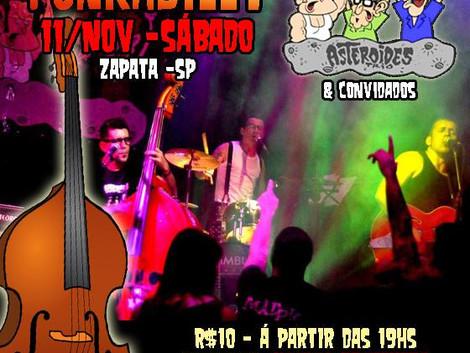 Banda Asteroides Trio fará Tributo Rockabilly ao Punk Nacional no Centro Cultural Zapata
