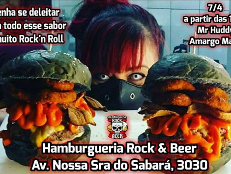 Amargo Malte e Mr Huddy tocam na Hamburgueria Rock & Beer