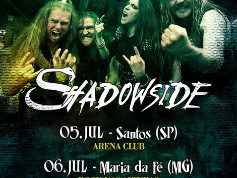 Shadowside anuncia três shows no Brasil e ingressos estão à venda