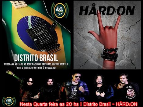 Nesta Quarta Feira 12/10  entrevista com a banda Hard:On !!!