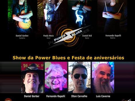 Show e festa da banda Power Blues no Santa Sede