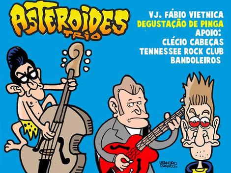 Asteroides Trio comemora Dia do Rock no Skol Bar
