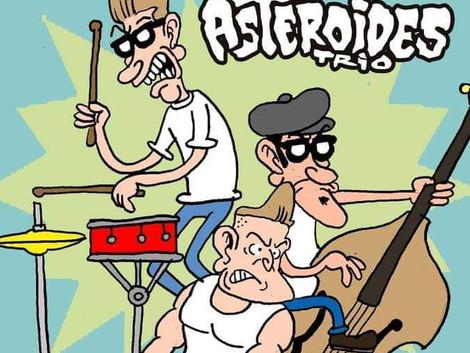 Santa Sede Rock Bar recebe show da banda Asteroides Trio