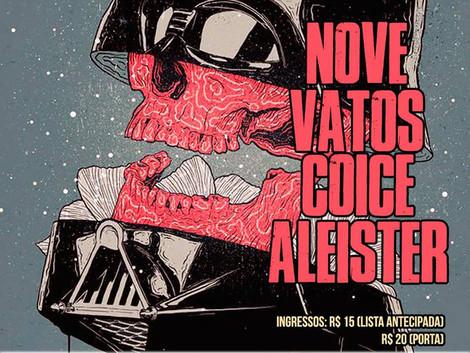 Domingo Especial com as bandas Nove,Vatos, Coice e Aleister no Zapata