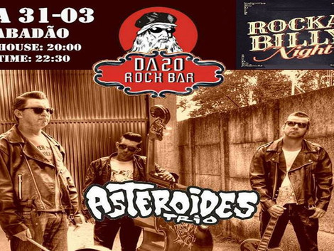 'Rockabilly Night' em Guarulhos com a banda Asteróides Trio