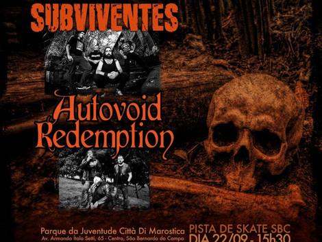 SBC recebe show das bandas Subviventes e Autovoid Redemption