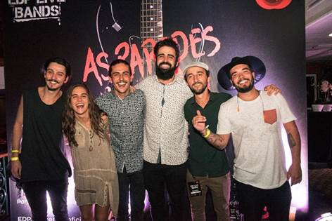 Membros da banda Gelpi, vencedora da segunda edição do EDP Live Bands Brasil  Crédito: Charles Trigueiro