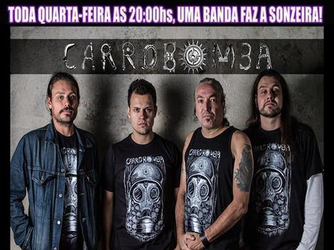 NESTA QUARTA FEIRA – 18/11 -  LIVE ON THE ROCKS - CARRO BOMBA